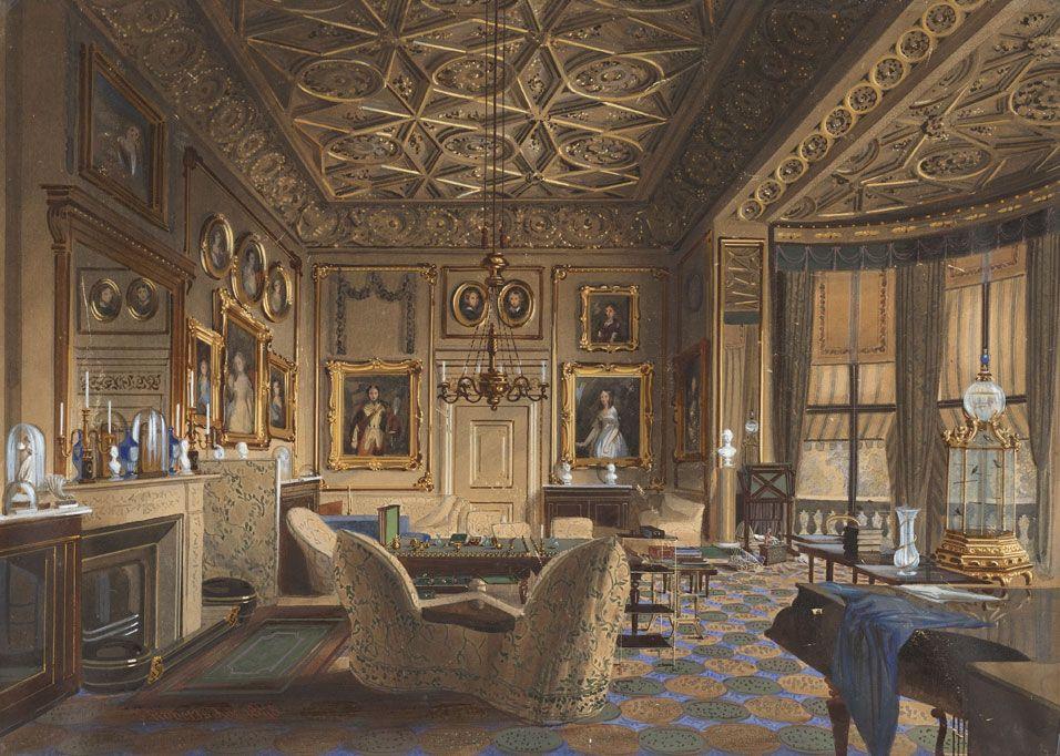 palais de buckingham ao251t 1848 int233rieurs et mobilier