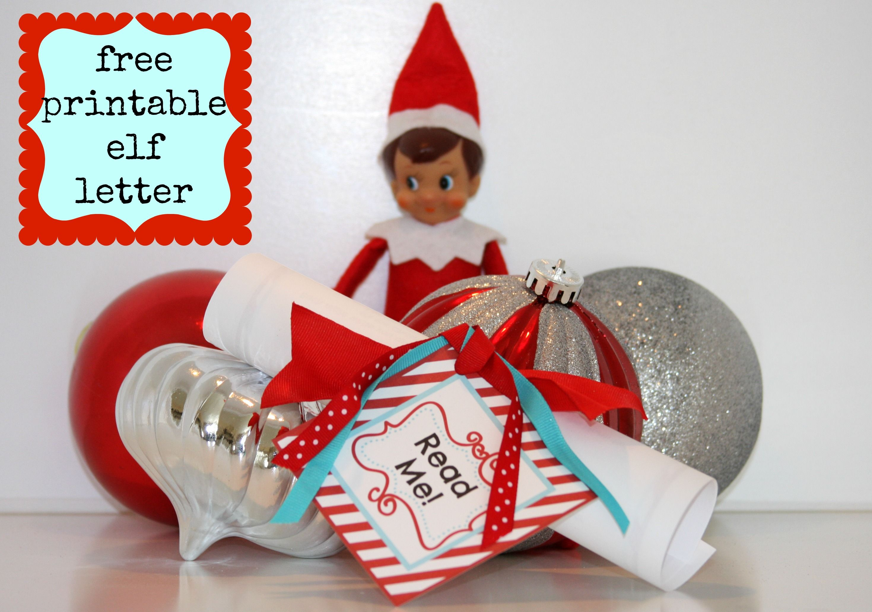 Free Printable Elf Letter  Christmas    Elves Free