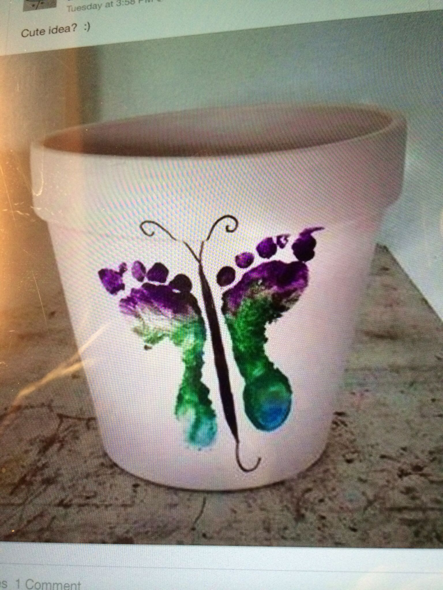 "Beth- I would love to have a pot like this with each of the girls ""butterflies""."