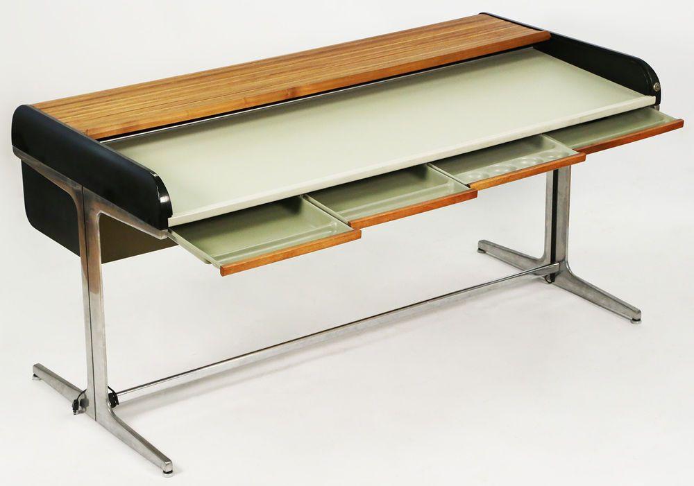 Herman Miller Action Office 1 George Nelson Robert Propst Rolltop Eames Mcm Desk