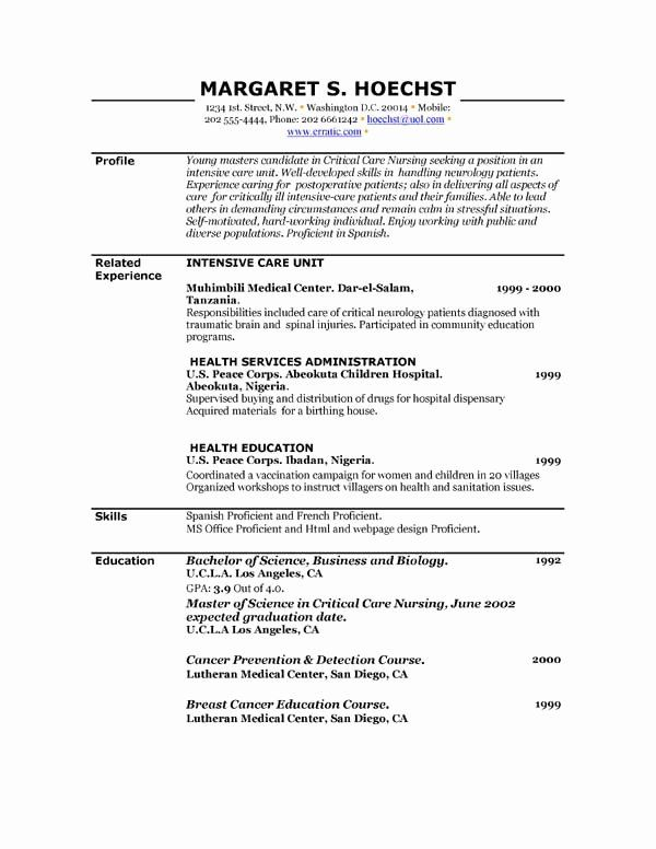 Peace Corps Resume Example Lovely Examples Of Resume In 2020 Free Printable Resume Templates Resume Template Examples Downloadable Resume Template