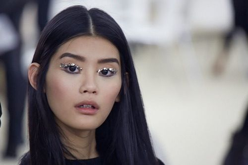 Ming Xi backstage at Chanel