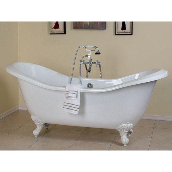 Antique Clawfoot Bathtub Morris 72 Inch Acrylic Double