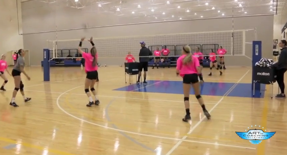 4 On 4 Dig Set Drill Volleyball Drills Coaching Volleyball Youth Volleyball
