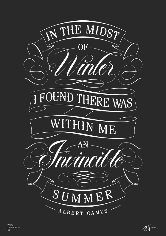 Inspirational quotes: Albert Camus Invincible Summer poster 4 ...