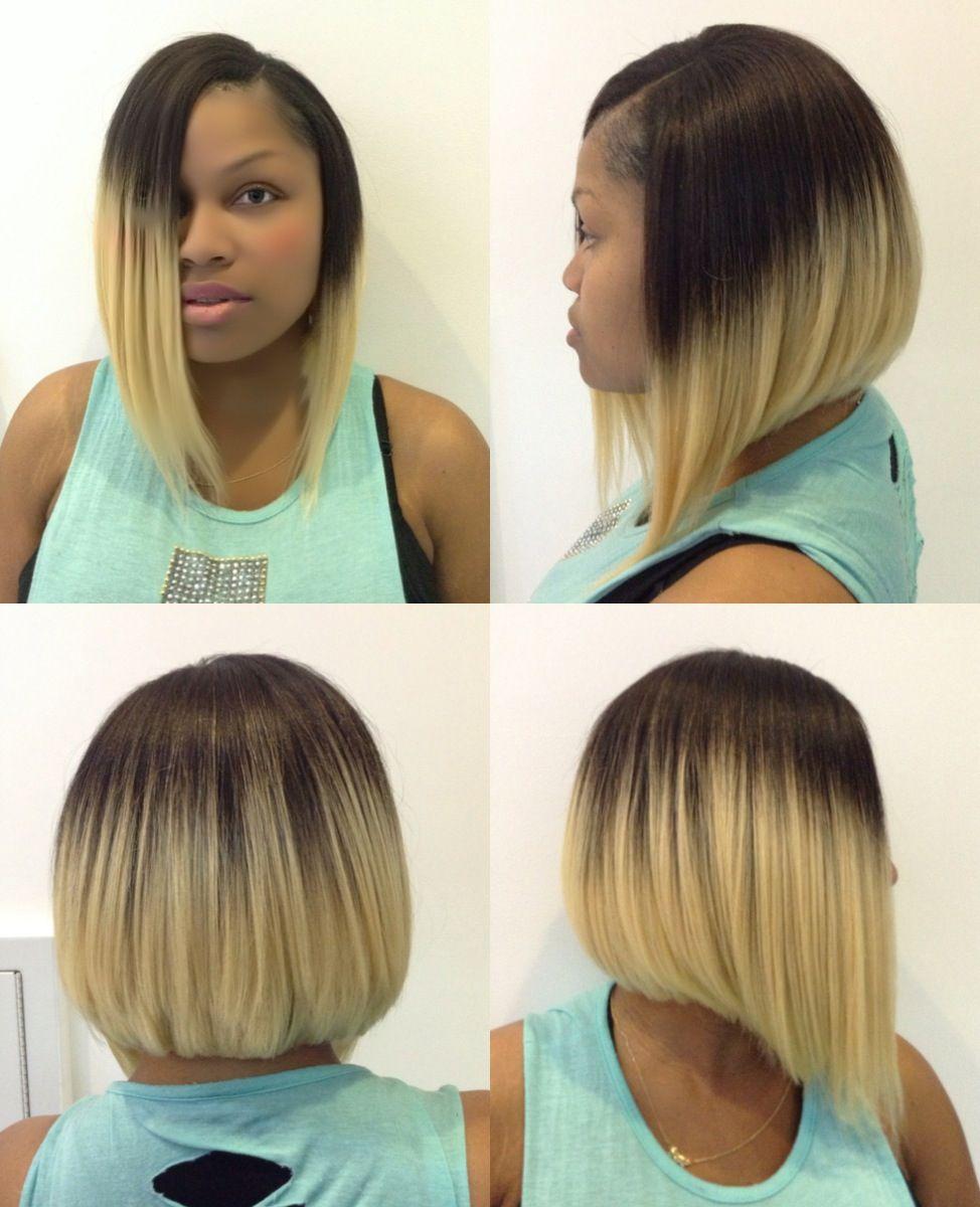 Quick Weave Bob An Blond Hair Hair Styles Hair Cuts