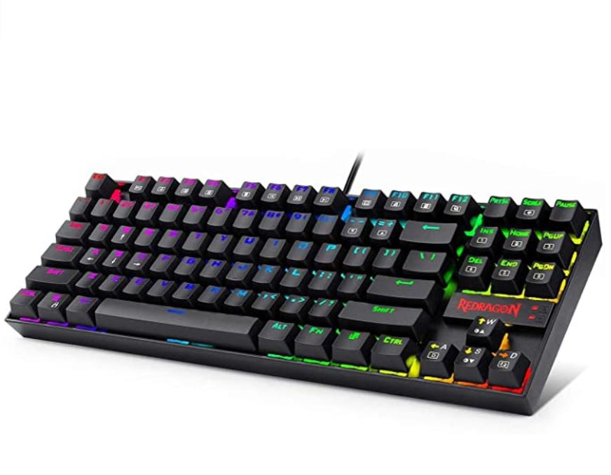 Redragon K552 Rgb Mechanical Gaming Keyboard Compact 87 Key Mechanical Computer Keyboard Mechanical Computer Switches