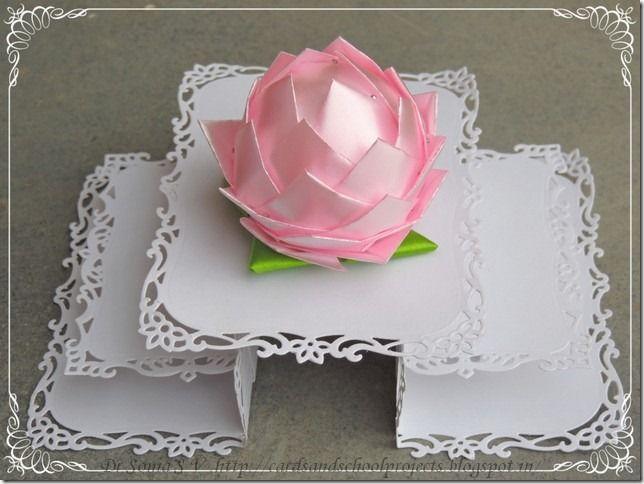 Make A Lotus Flower Using Ribbon And Styrofoam Thermocolvery