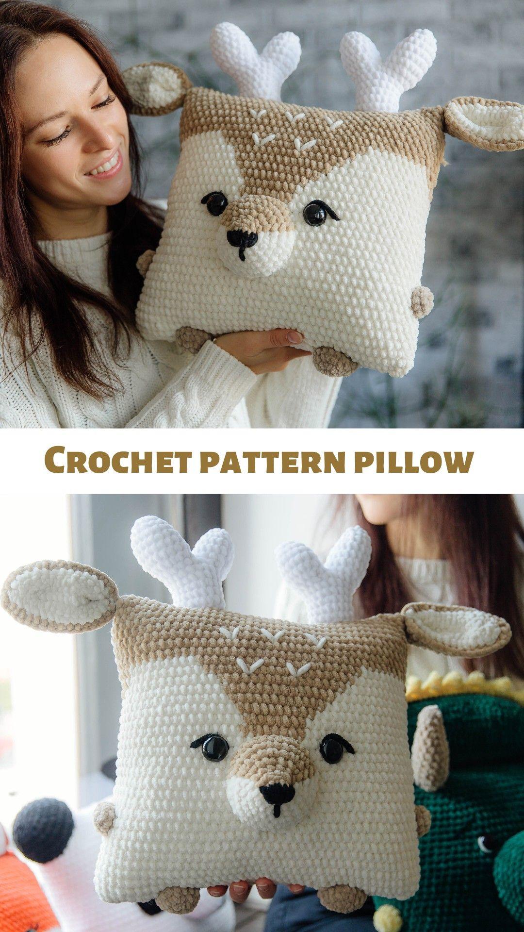 Crochet raindeer pattern, amigurumi deer pattern, crochet deer, christmas deer, crochet pillow, toy