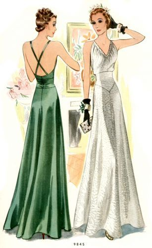 30s inspired evening dresses