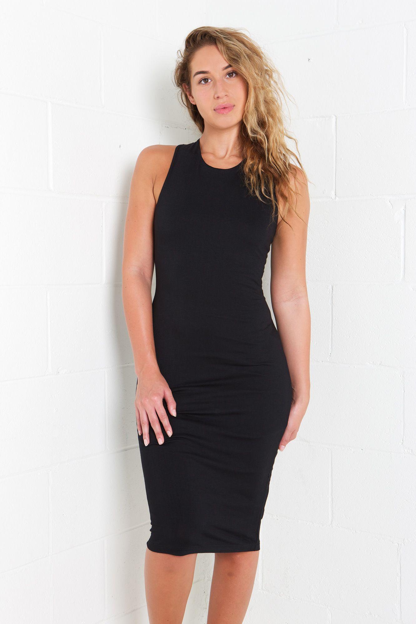 Black dress urban planet - Lace Up Crochet Back Midi Dress