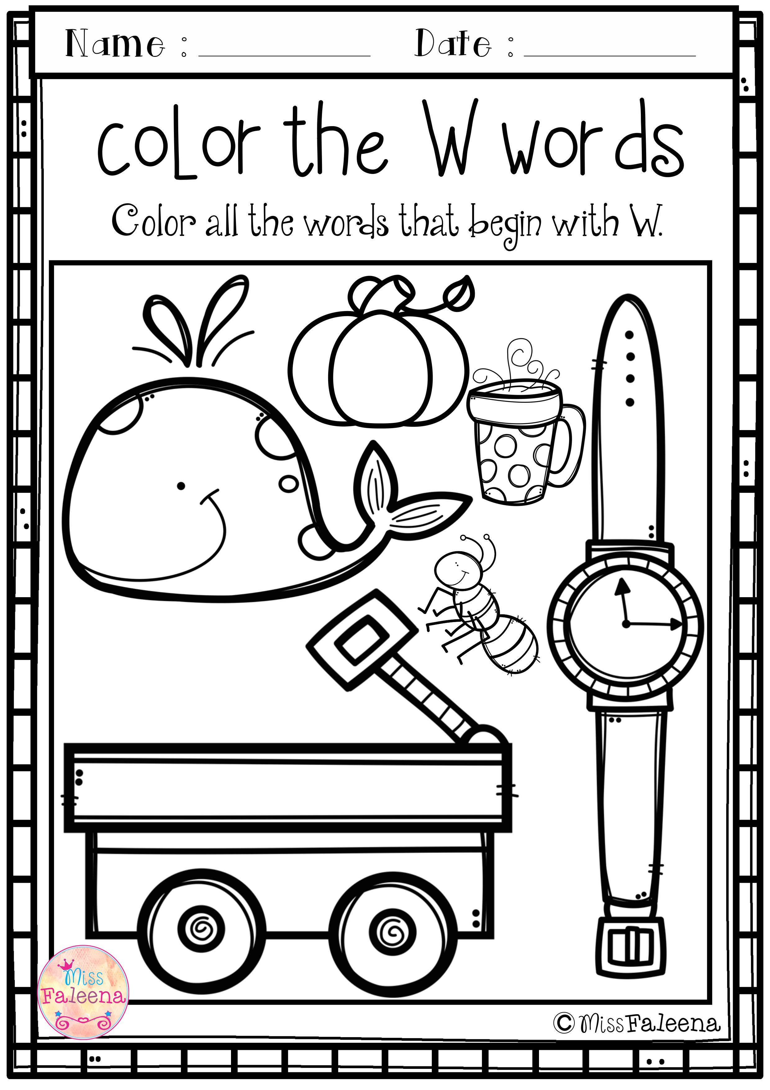 Alphabet Letter Of The Week W Preschool Activities Alphabet Preschool Preschool Worksheets [ 3508 x 2480 Pixel ]