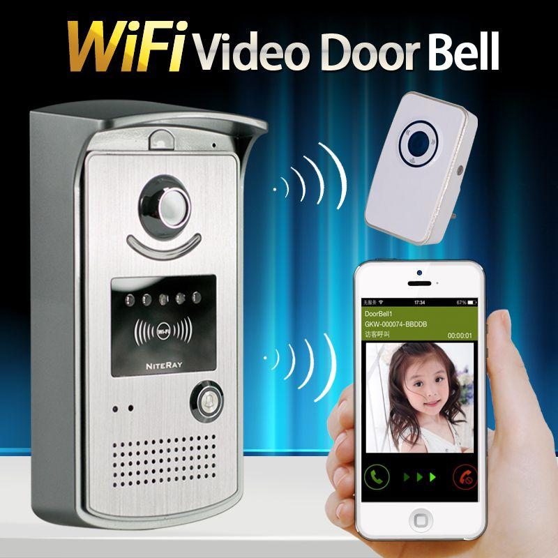 IP Wireless Campanello Con 720 P Macchina Fotografica Video Citofono Del Telefono WIFI campanello di Visione Notturna di IR Motion Detection Alarm per IOS Android