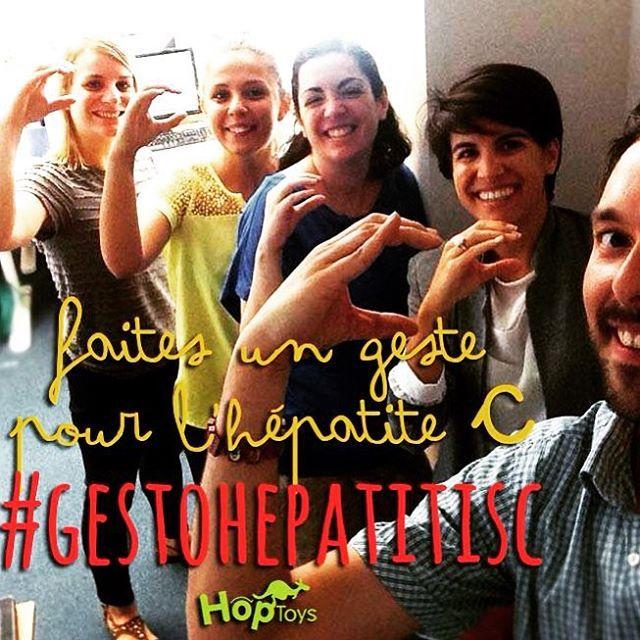 Coulisse ce matin au bureau d'Hop'Toys #journeemondialedelhepatite #gestohepatitisc