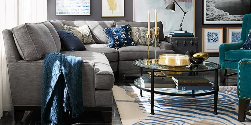 Colors grey navy bali teal hint of gold yellow white - Grey and yellow living room curtains ...
