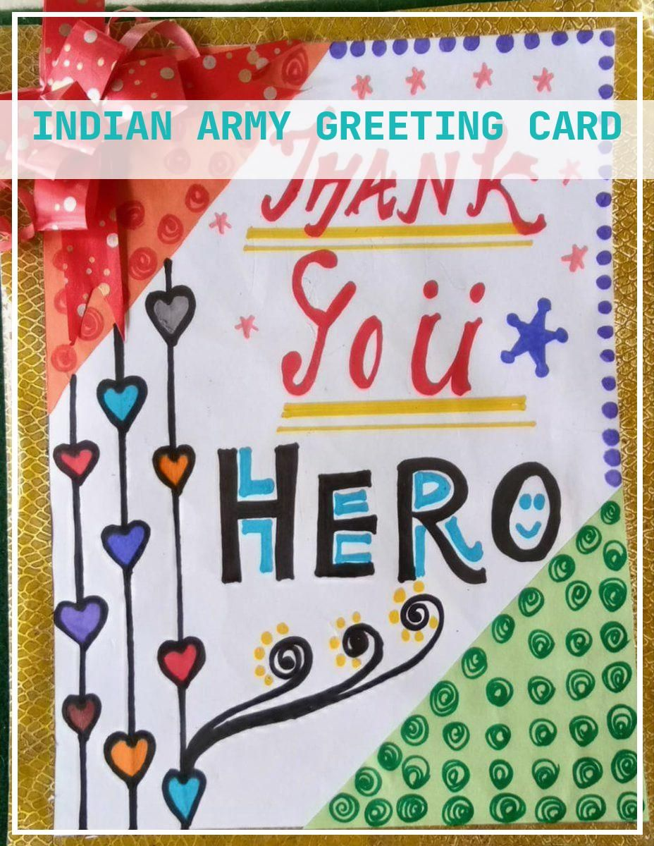 10 Perfect Indian Army Greeting Card Army Greeting Cards Indian Army Thank U Cards
