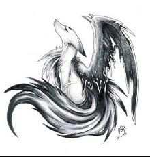 Manga Renard Noir Et Blanc Manga Pinterest Loup Dessin