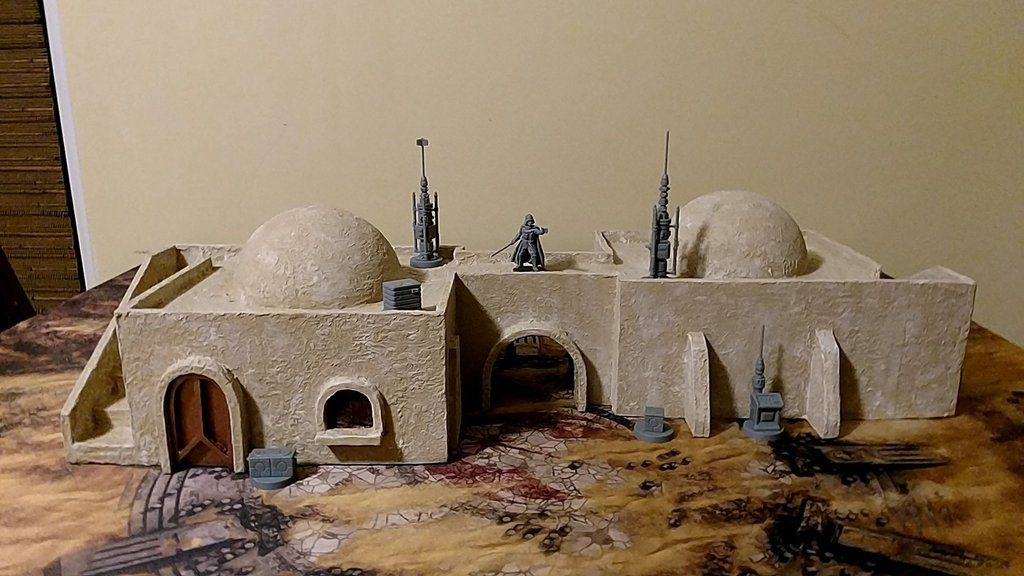 Many Hours Later Success Mos Eisley Inspired Building For Star Wars Legion Terrainbuilding Star Wars Diy Star Wars Inspired Star Wars Costumes