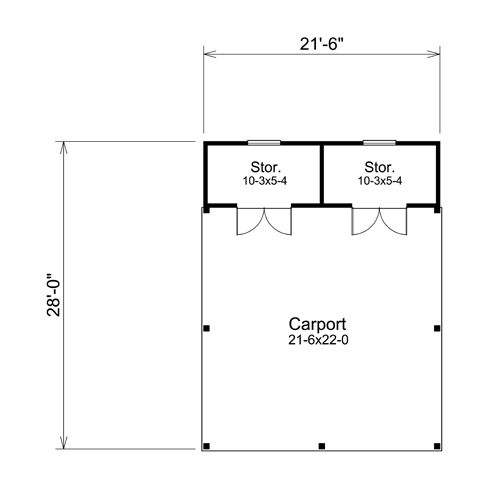Bangert Park Plan1 Large Jpg 500 500 Carport Plans Carport Garage Plans