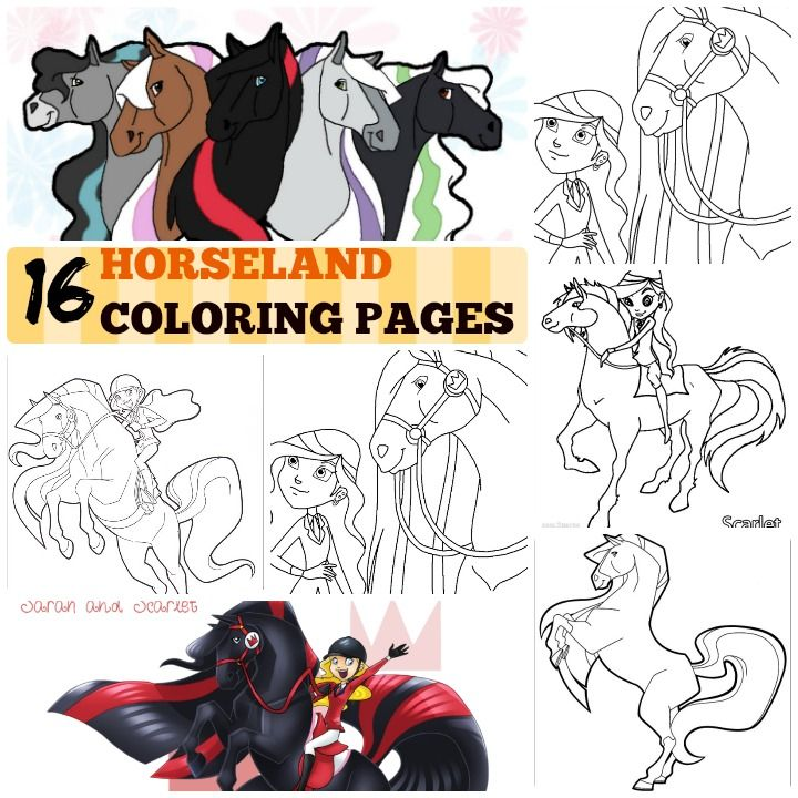 Printable Horseland Coloring Pages For Kids Horseland Characters Coloring Pages Bailey Sarah Scarlet Coloring Pages Coloring Pages For Kids Color Crafts