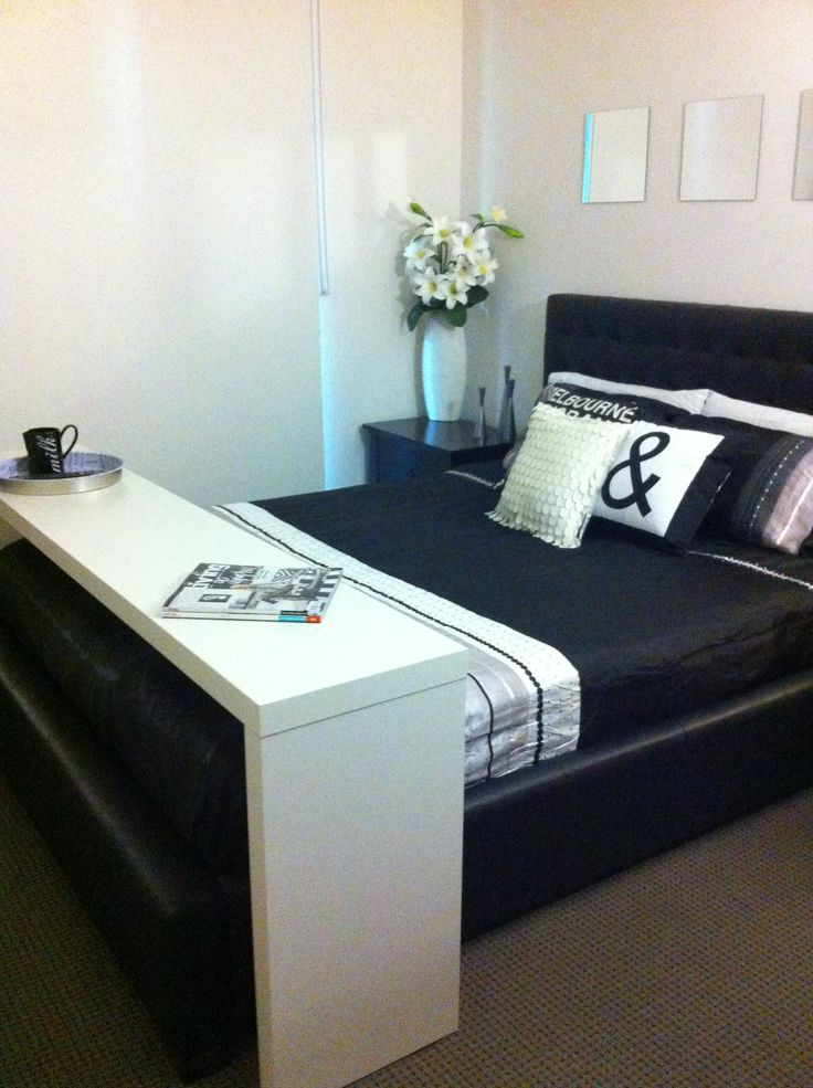 ikea bed table across malm google search pinteres. Black Bedroom Furniture Sets. Home Design Ideas
