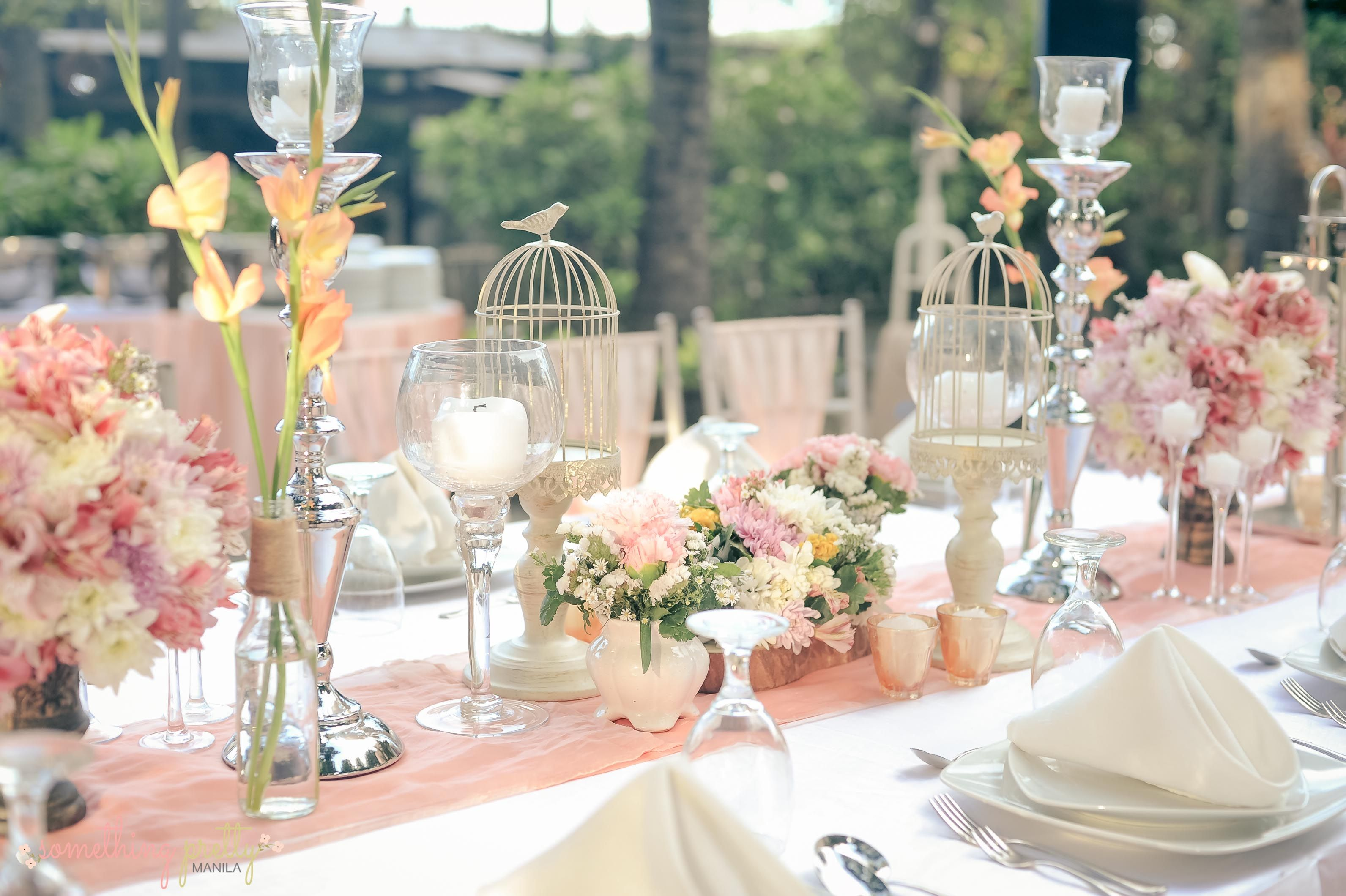 VIP Table Centerpiece Setting for Patrick and Iris\u0027 Rustic Wedding & VIP Table Centerpiece Setting for Patrick a\u2026 | Weddings / Events by ...