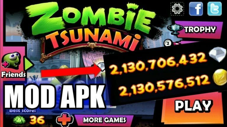 Zombie Tsunami Mod Apk (Unlimited Coins+Diamonds Hack) V4 ...
