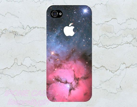 Iphone 5 casegalaxy nebula blue pink stars by lisaprettygirl