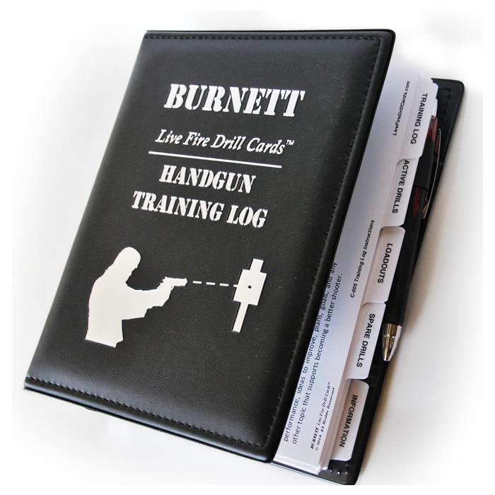 Handgun Training Drill Cards And Log Book