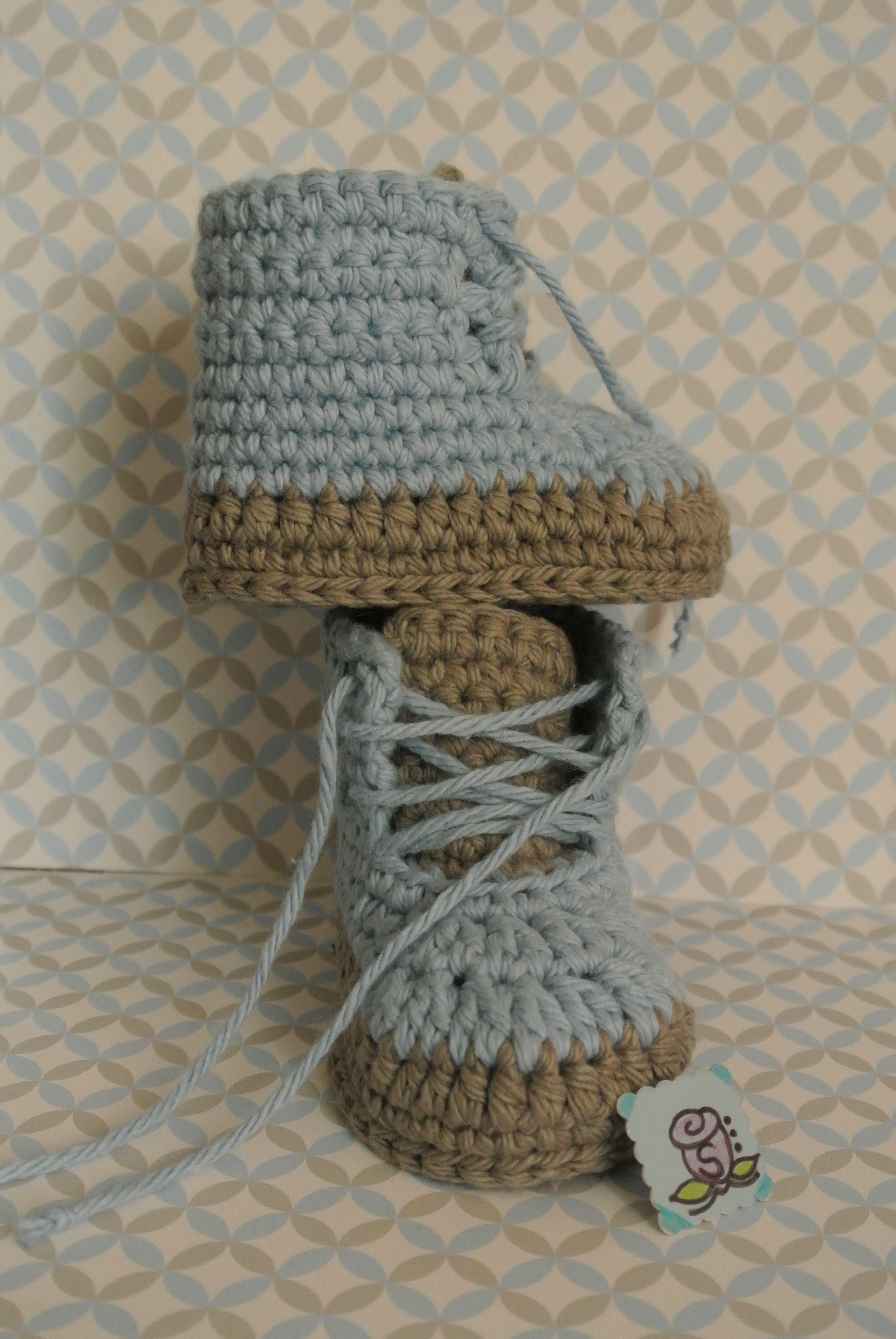 Crochet Baby Boy Shoes Made By Me.....Zapatito de Bebe a Crochet ...