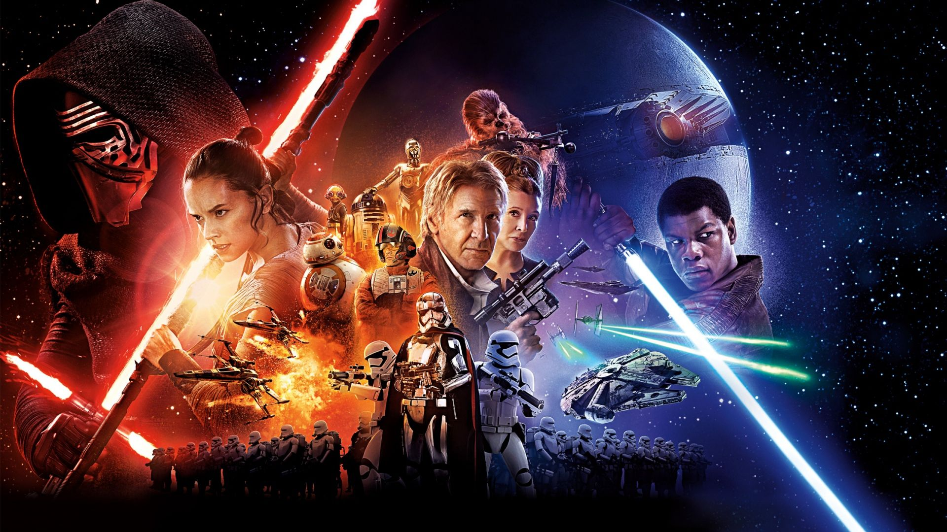 Pin By Martyna K On Star Wars Star Wars Episode Vii Force Awakens Poster Star Wars Movie