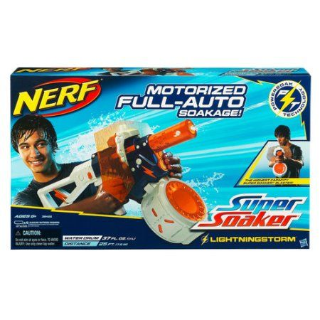 Nerf Super Soaker Lightningstorm Blaster, Multicolor