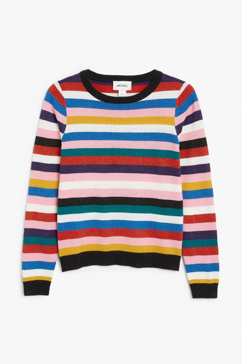 0312ffd3c6917e Glittery striped sweater Cotton Sweater