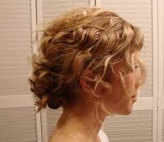 Curly Messy Low Bun With Images Hair Hair Styles Short Hair Updo