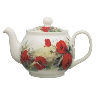 Roy Kirkham Poppy 6 Cup Round English Teapot 56 99 You