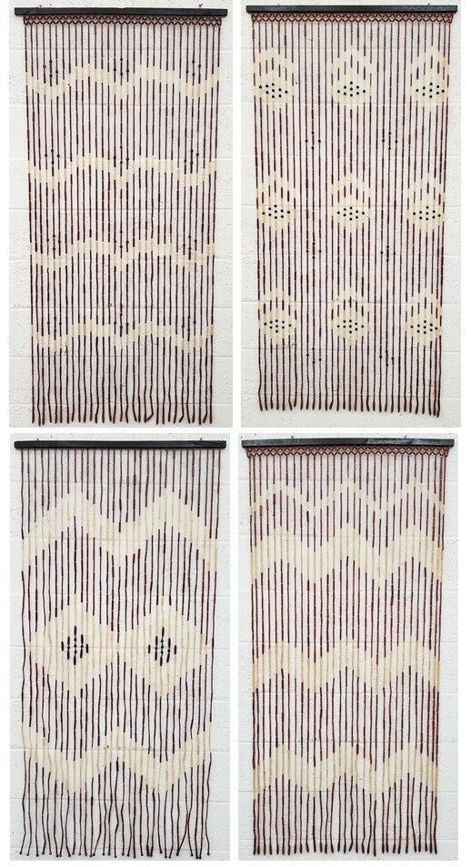 Beaded Bamboo Wooden Door Curtain Summer Blind Fly Curtain