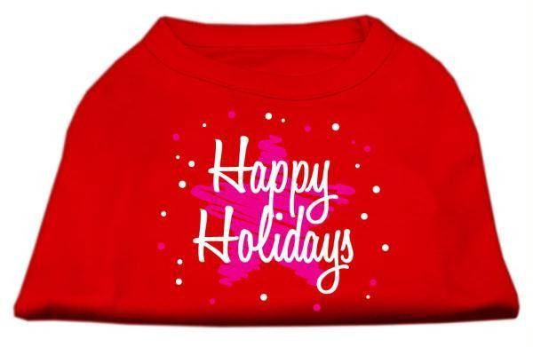 Scribble Happy Holidays Screenprint Shirts Red XL (16)