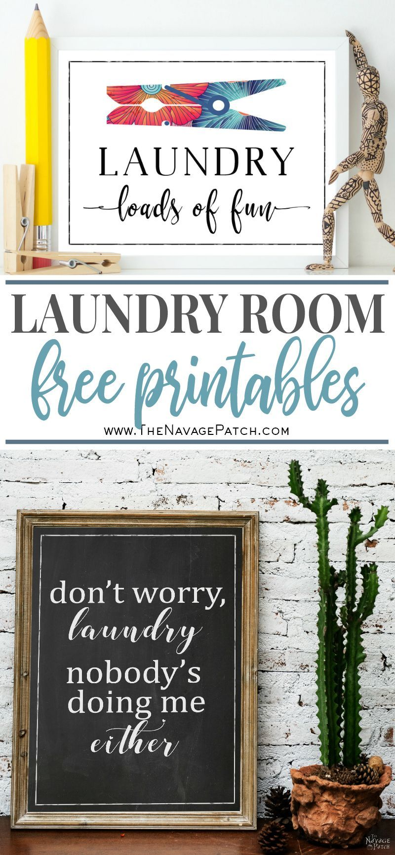 Free Printable Wall Art for Laundry Room images
