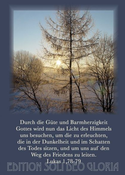 christliche Postkarte 60, Lukas, Weihnachtskarte, Licht, Frieden ...
