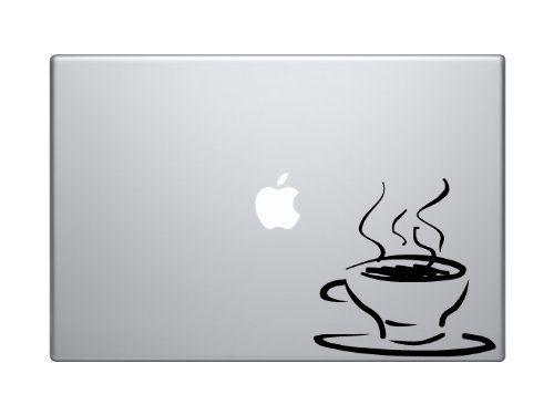 "Coffee House Art #3 - Java Shop Mug Cappucino Espresso - 5"" Black Vinyl Decal Sticker Car Macbook Laptop"