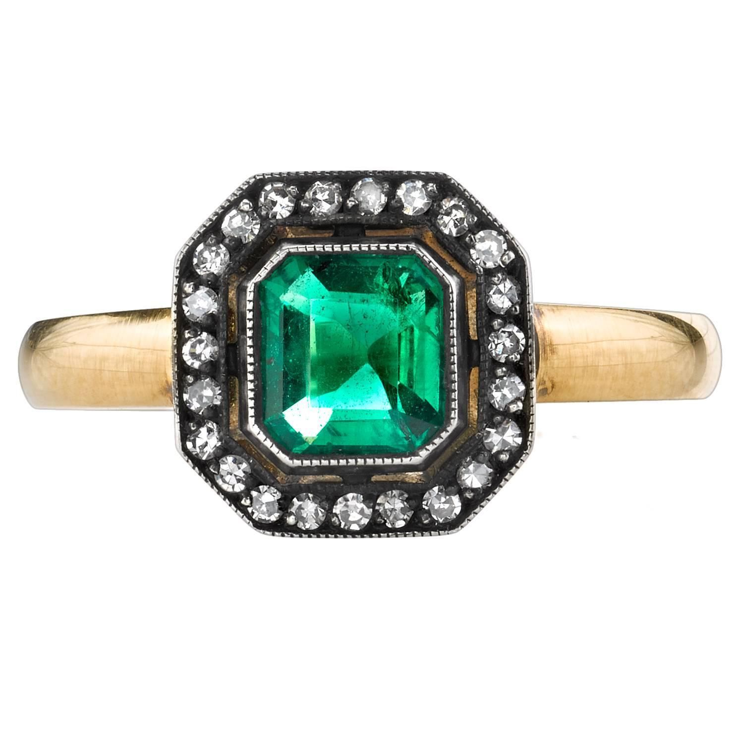 shaped ms com cut diamond antique madison ring octagon junikerjewelry