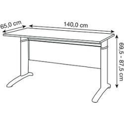 Photo of Möbelpartner Amatis höhenverstellbarer Schreibtisch grau rechteckig