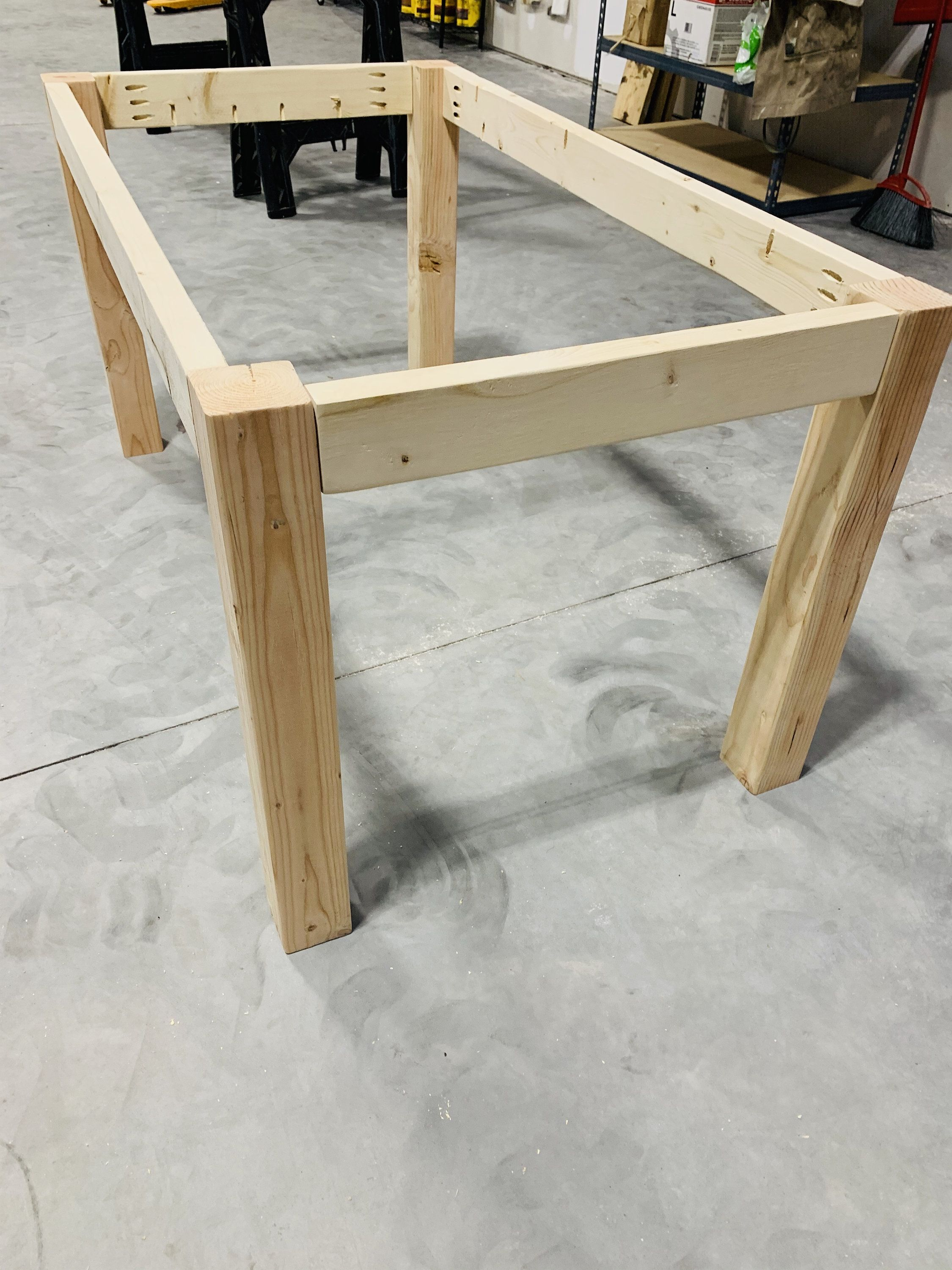 Farmhouse Table Chunky Leg Kit with Table Apron Unfinished  Etsy