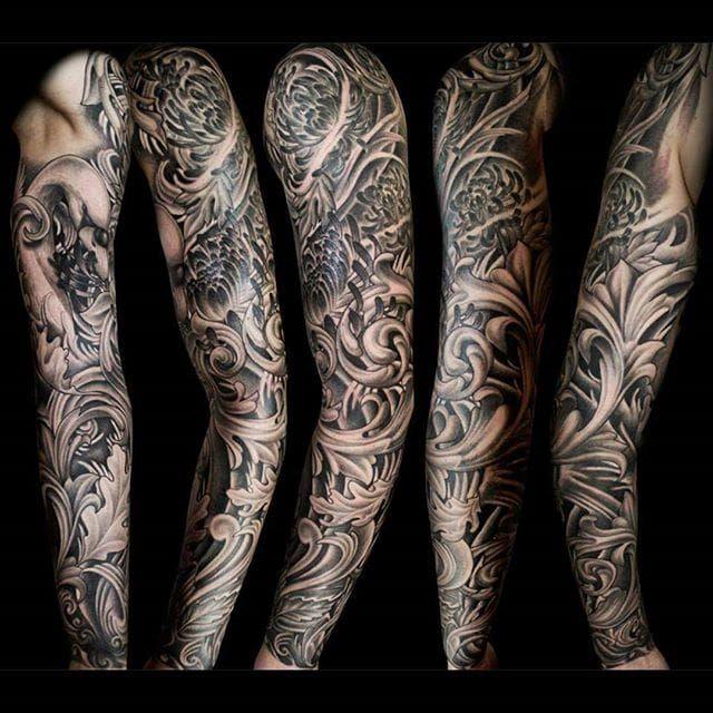 18 Baroque And Fancy Filigree Tattoos Filigree Tattoo Best Sleeve Tattoos Sleeve Tattoos