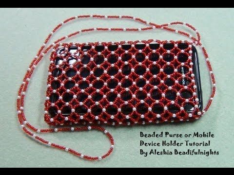 919ffe9f7242f Beaded Purse or Mobile Device Holder Tutorial Part 1 - YouTube ...