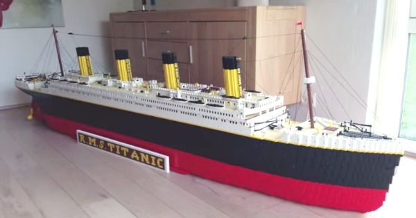 Boy Makes Replica Titanic With 30000 Lego Bricks Sams Pins