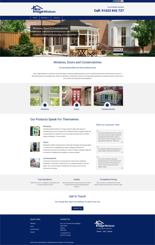 Double Glazing Blue And White Responsive Website House Styles