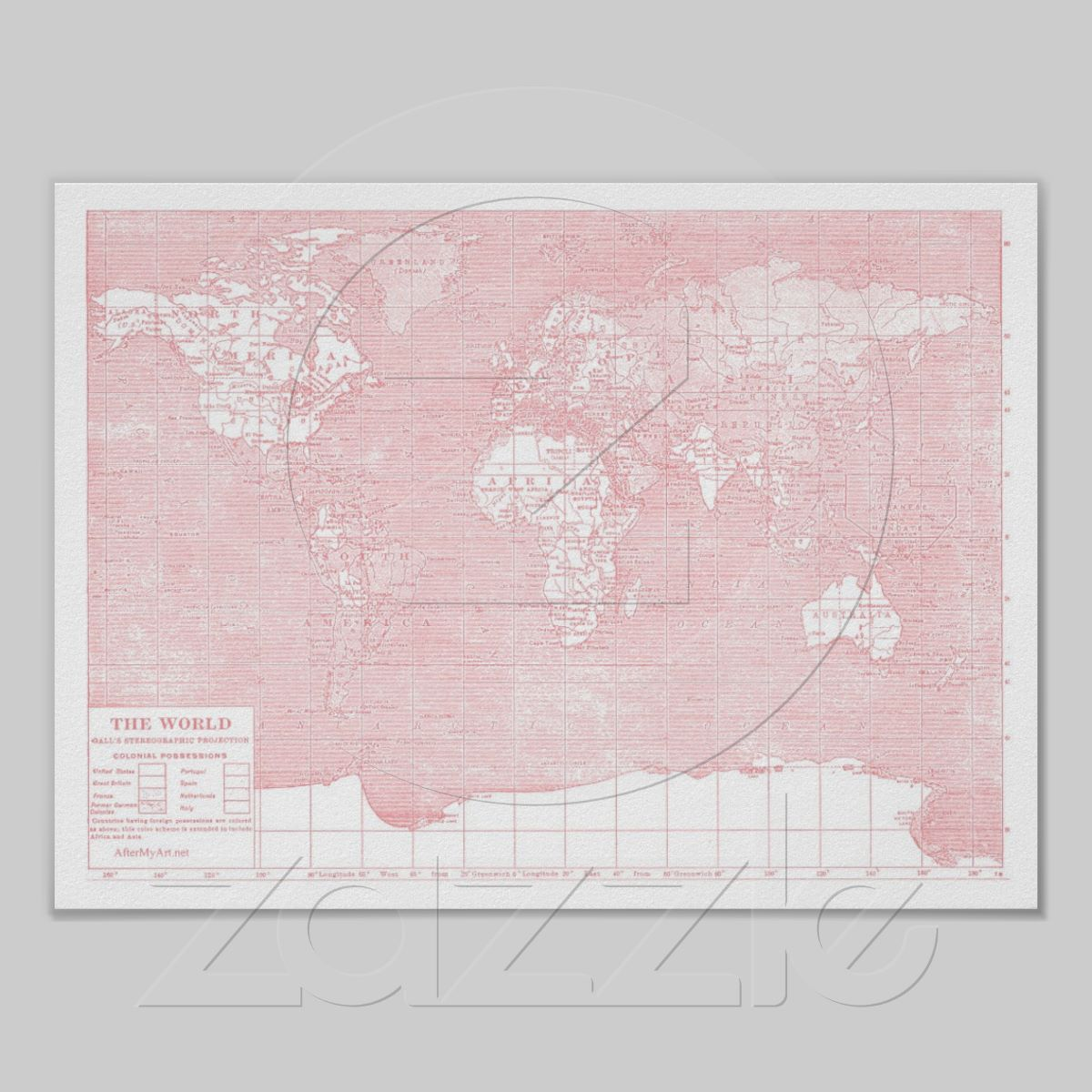 Her world pink vintage world map poster rosa plansch och vintage her world pink vintage world map poster gumiabroncs Image collections