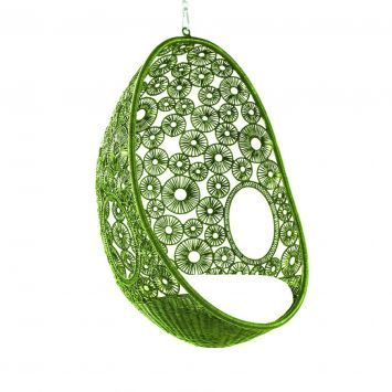 Lime Zara Hanging Pod Chair from Equator Homewares    tables and     Lime Zara Hanging Pod Chair from Equator Homewares