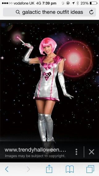 Space girl pink silver